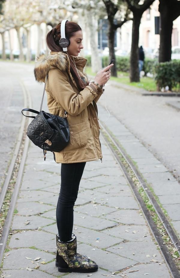 marie zamboli coat shoes jewels sweater bag