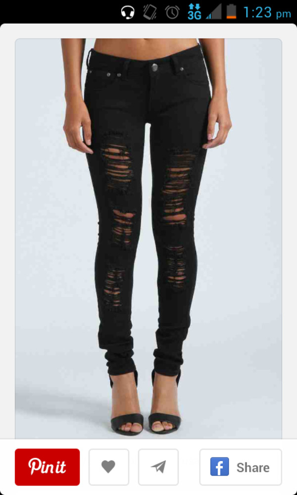 Collection Womens Distressed Skinny Jeans Pictures - Reikian