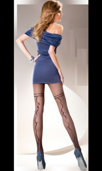 tights blue perfect stockings pantyhose sheer stockings dress