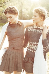 dress,wool,collar,shorts,winter tweed