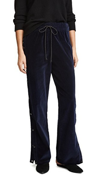 Hudson pants track pants velvet dark