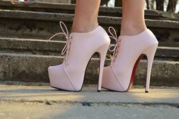shoes light pink high heels platform high heels platform booties