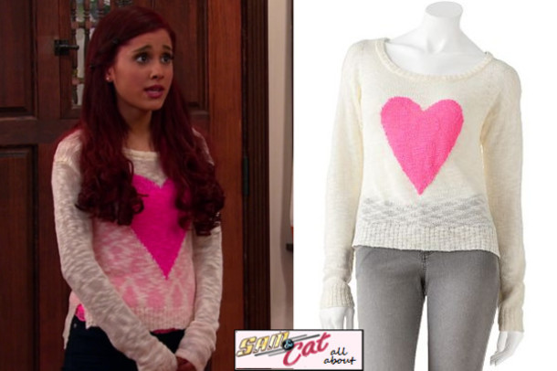 Sweater Ariana Grande Cat Valentine Cat Valentine Victorious Cats Brunette  Brown Haur
