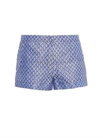 shorts jacquard silk blue