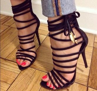 shoes heels high heels black heels