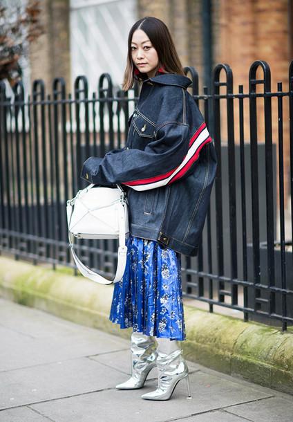 a096a5934c jacket london fashion week 2017 fashion week 2017 fashion week streetstyle denim  jacket blue jacket oversized
