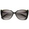 The joanne metal frame black oversized cat eye sunglasses at flyjane