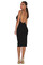 Kora backless midi dress – black