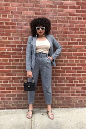 jacket,sunglasses,checkered,top,blazer,sandals,panties