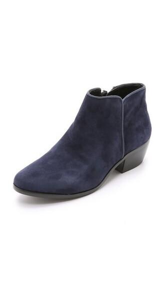 suede booties booties navy suede shoes