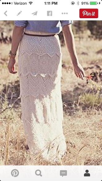 skirt lace long vintage skirt white skirt lace skirt maxi skirt maxi long skirt off white perfecto