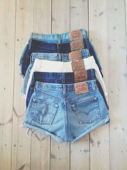 Vintage levis shorts denim high waisted hotpants by mingalondon