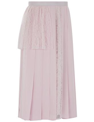 skirt silk pink