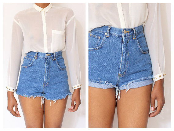 All sizes cut off plain vintage  high waisted by shopaudella