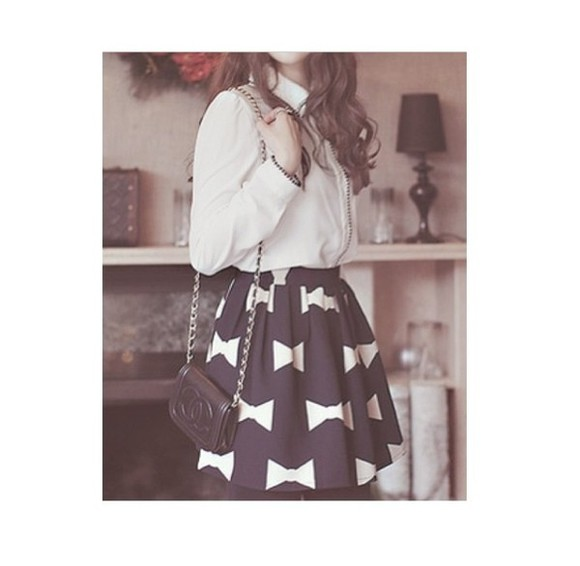 cute ribbon skirt korean asian fashion kfashion ulzzang