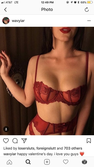 underwear red lingerie