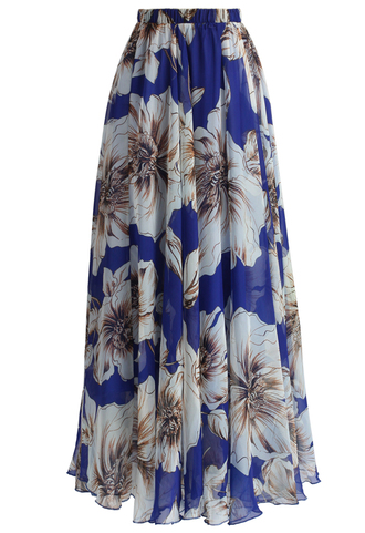 skirt marvel floral maxi skirt in blue chicwish floral skirt blue skirt maxi skirt party skirt chicwish.com long party skirt
