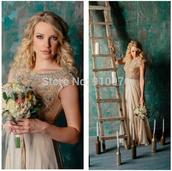 dress,prom dress,evening dress,crystals evening dress,beaded prom dress,party dress,champange prom dress