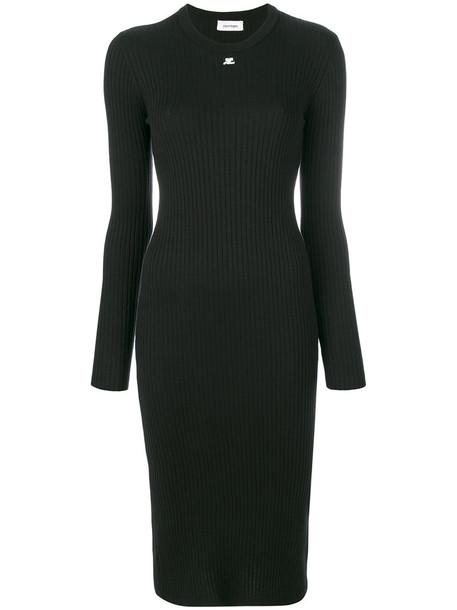COURRÈGES dress sweater dress women cotton black