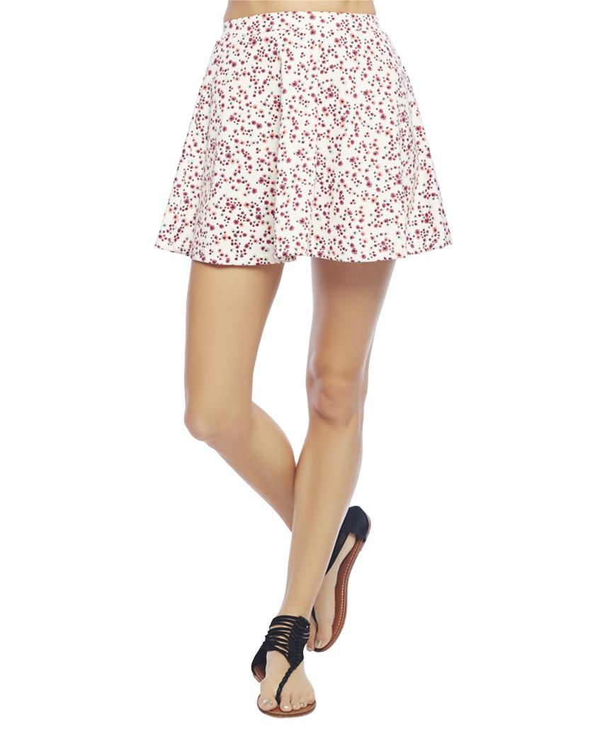 Floral Skater Skirt   Wet Seal