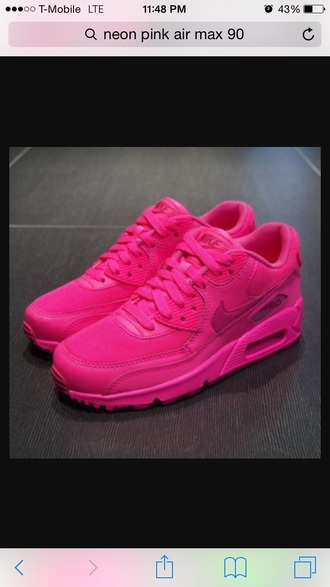 shoes sneakers nike air max neon pink