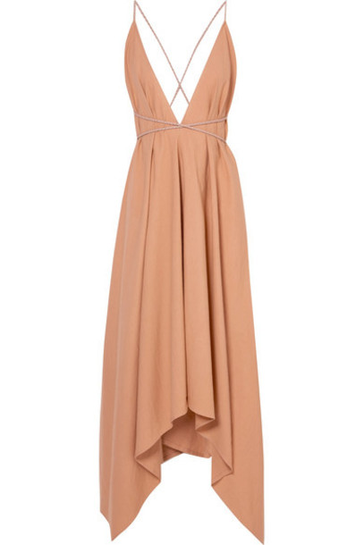 Caravana dress maxi dress maxi leather cotton neutral