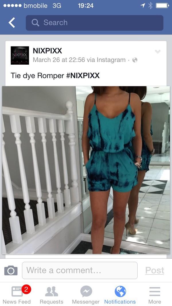 romper blue romper