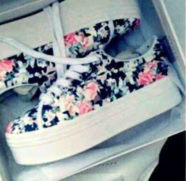 shoes floral floral shoes sneakers pink