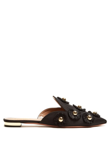 Aquazzura embellished sunflower shoes black