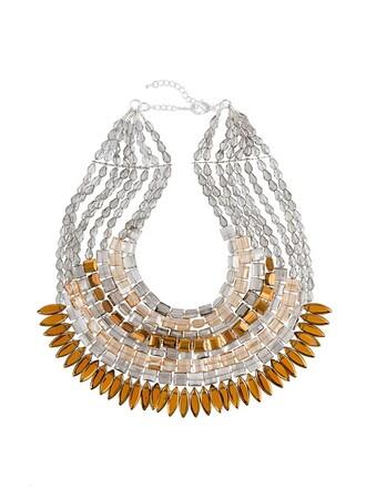 women beaded necklace brown jewels