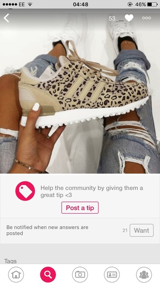 shoes adidas shoes leopard print sneakers