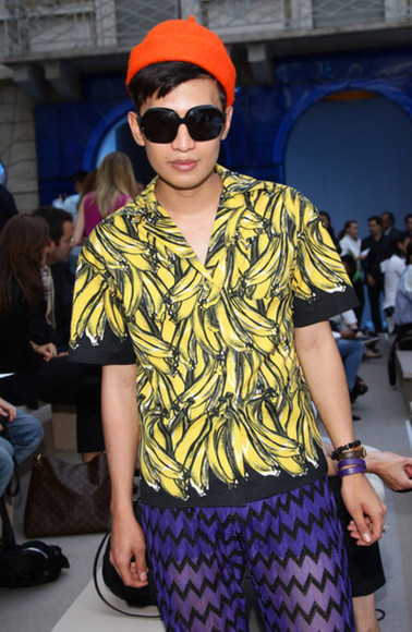 prada prada 2011 spring summer 2011 banana bryan boy prada 2211 prada shirt yellow shirt grey shirt black shirt