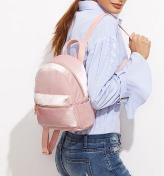 bag girl girly girly wishlist backpack pink velvet