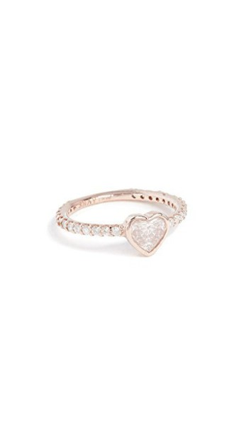 Shay heart ring gold rose gold rose jewels