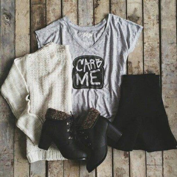 shoes cardigan shirt