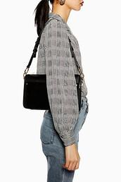 bag,shoulder bag,suede,black