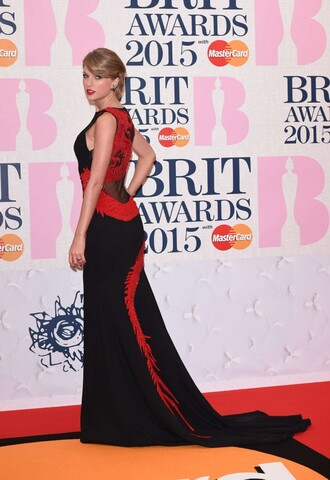 dress brit awards 2015 gown red carpet dress maxi dress taylor swift