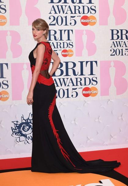 dress brit awards 2015 gown red carpet dress maxi dress taylor swift