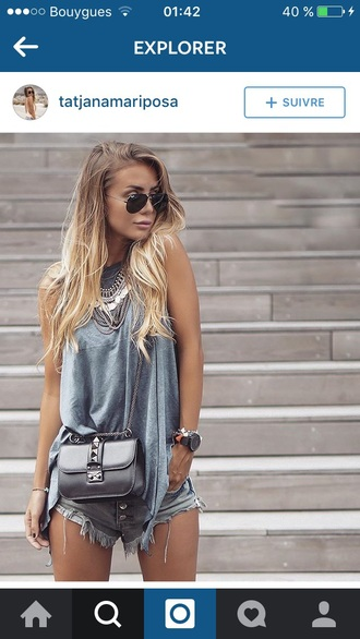 bag streetwear streetstyle black bag black leather bag leather leather bag jewels jewelry boho jewelry necklace boho necklace boho boho chic silver outfit street outfit