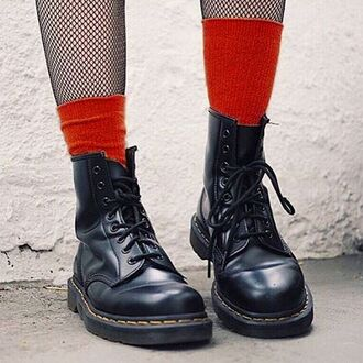 shoes beginning boutique boots drmartens black booties fishnet tights fall outfits