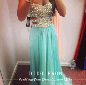 dress prom dress sky blue glitter dress