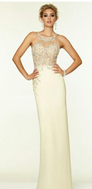 dress morilee prom dress ivory dress