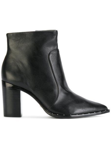 Schutz women ankle boots leather black shoes