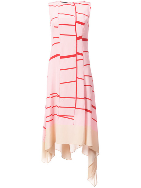 AKRIS dress sleeveless dress sleeveless women silk purple pink