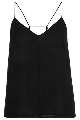 Pleat Back Strappy Cami - Camis - Tops - Clothing- Topshop
