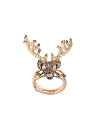 deer metallic women ring jewels