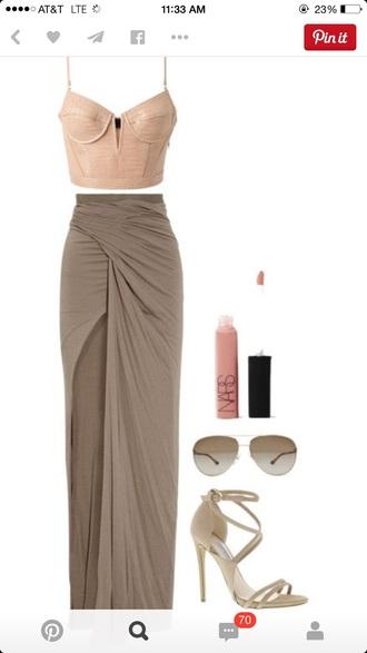 dress wrap skirt dress style corset top spaghetti strap strappy heels