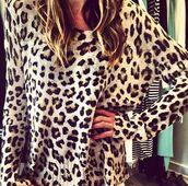 sweater,leopard print,fall sweater,mee,top