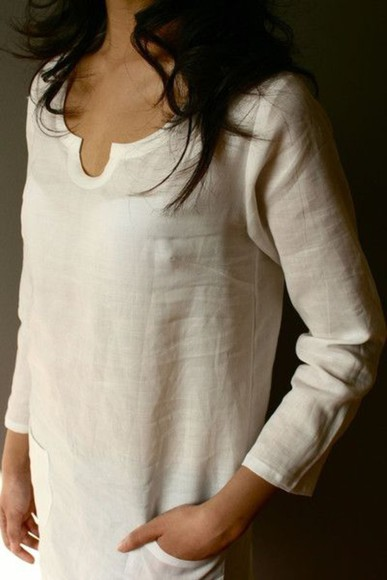 tunic blouse top cream shirt cream blouse simple