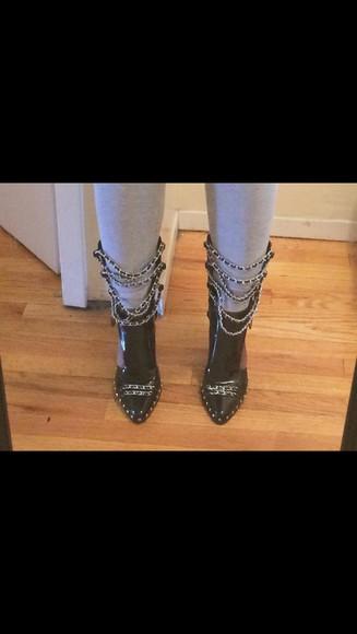 chain booties
